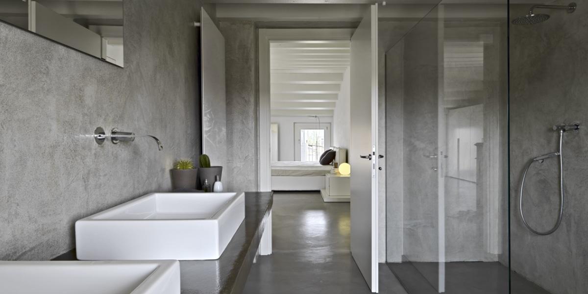 moderne badkamers betonlook