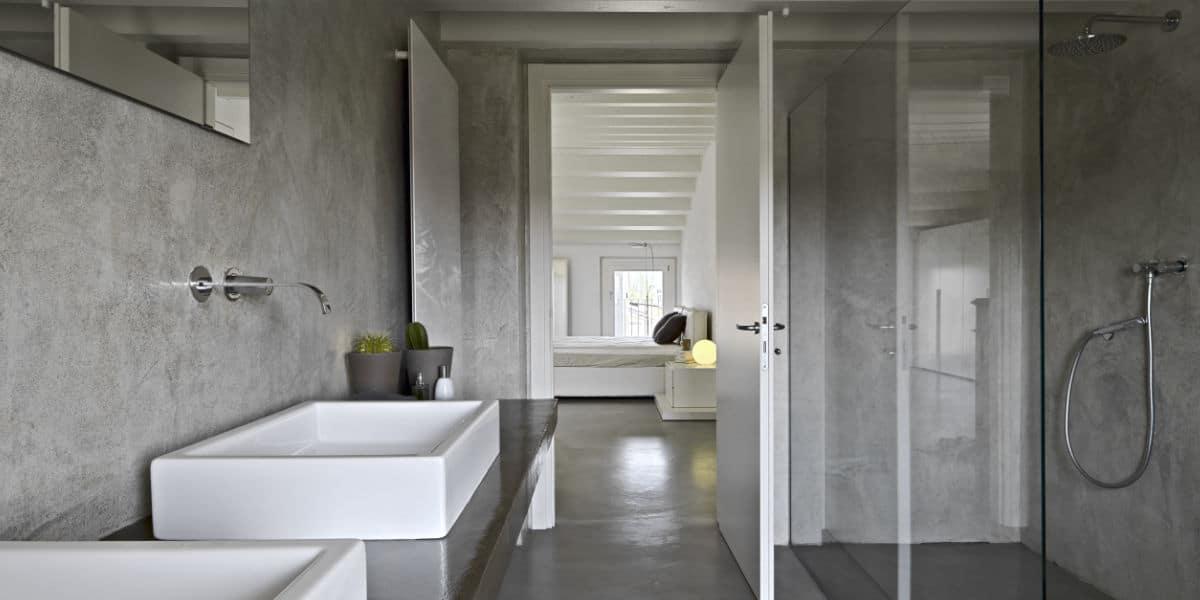 nieuwe badkamer betonlook